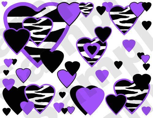 Zebra clipart hearts Room images best wall border