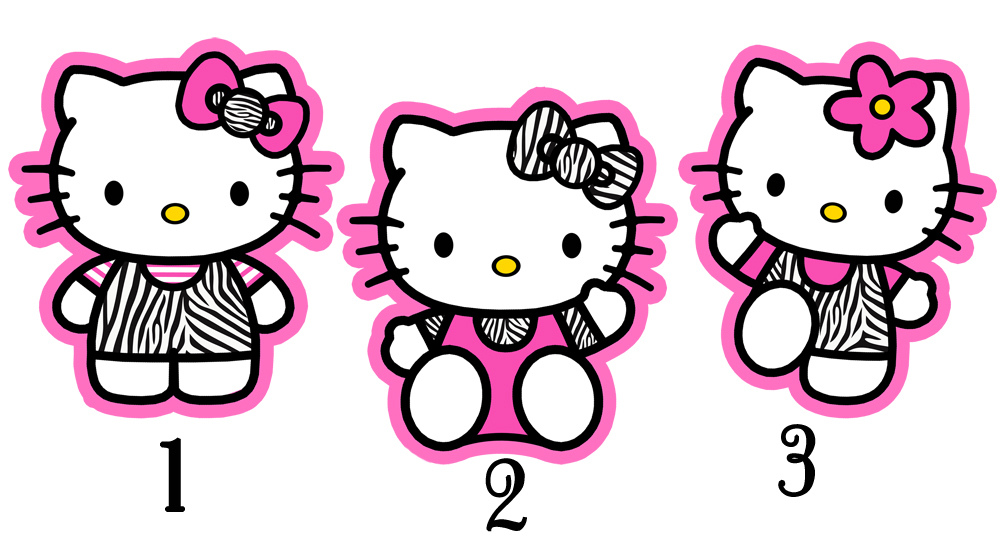 Zebra clipart hello kitty Birthday decoration print deco… birthday