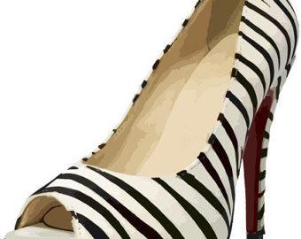 Zebra clipart high heel Printables clipart heel artfashion print