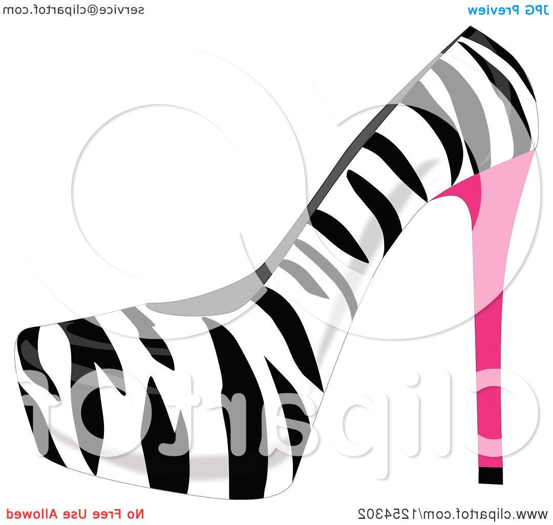 Zebra clipart high heel Free Zebra Print Of Heel