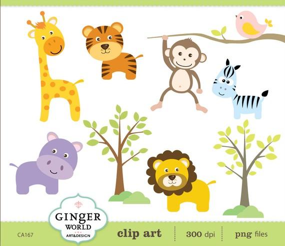 Zebra clipart jungle animal Lion art jungle Lion Monkey