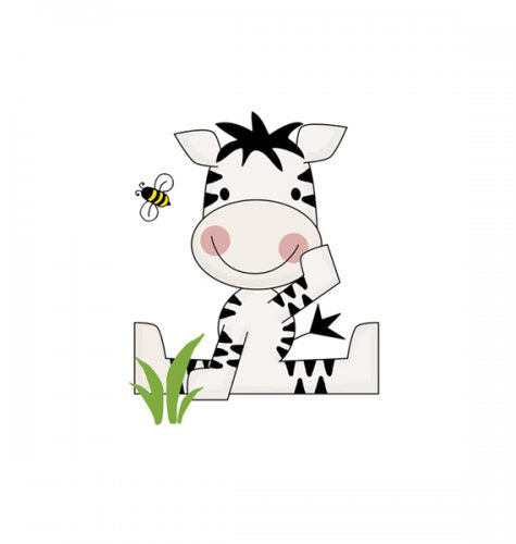 Zebra clipart jungle boy Stickers Art Decal Stickers Art