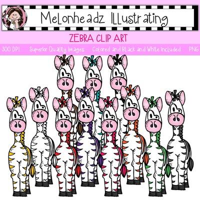 Zebra clipart melonheadz #11