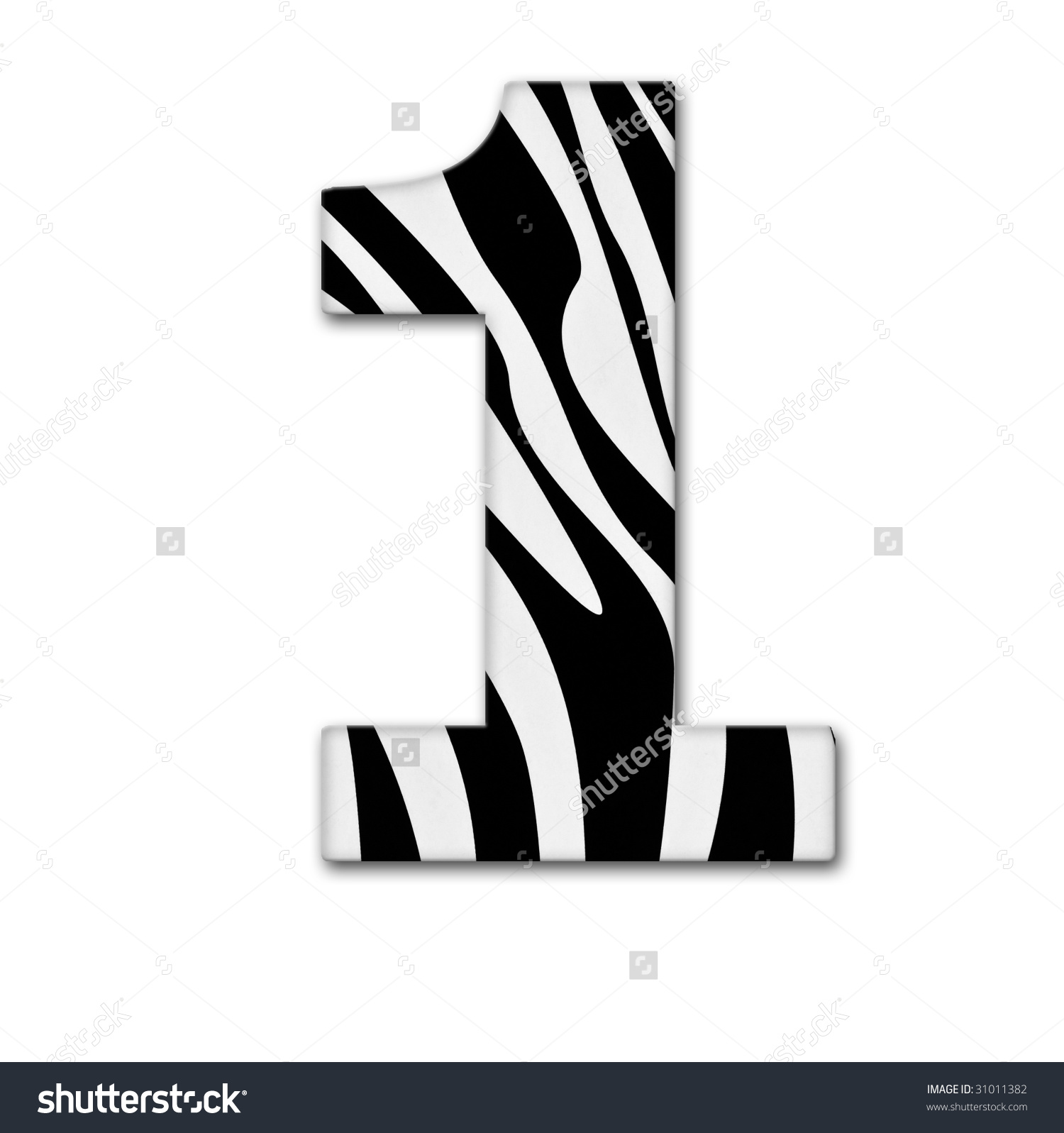 Zebra clipart number 1 Print Clipart clipart Numbers (35+)