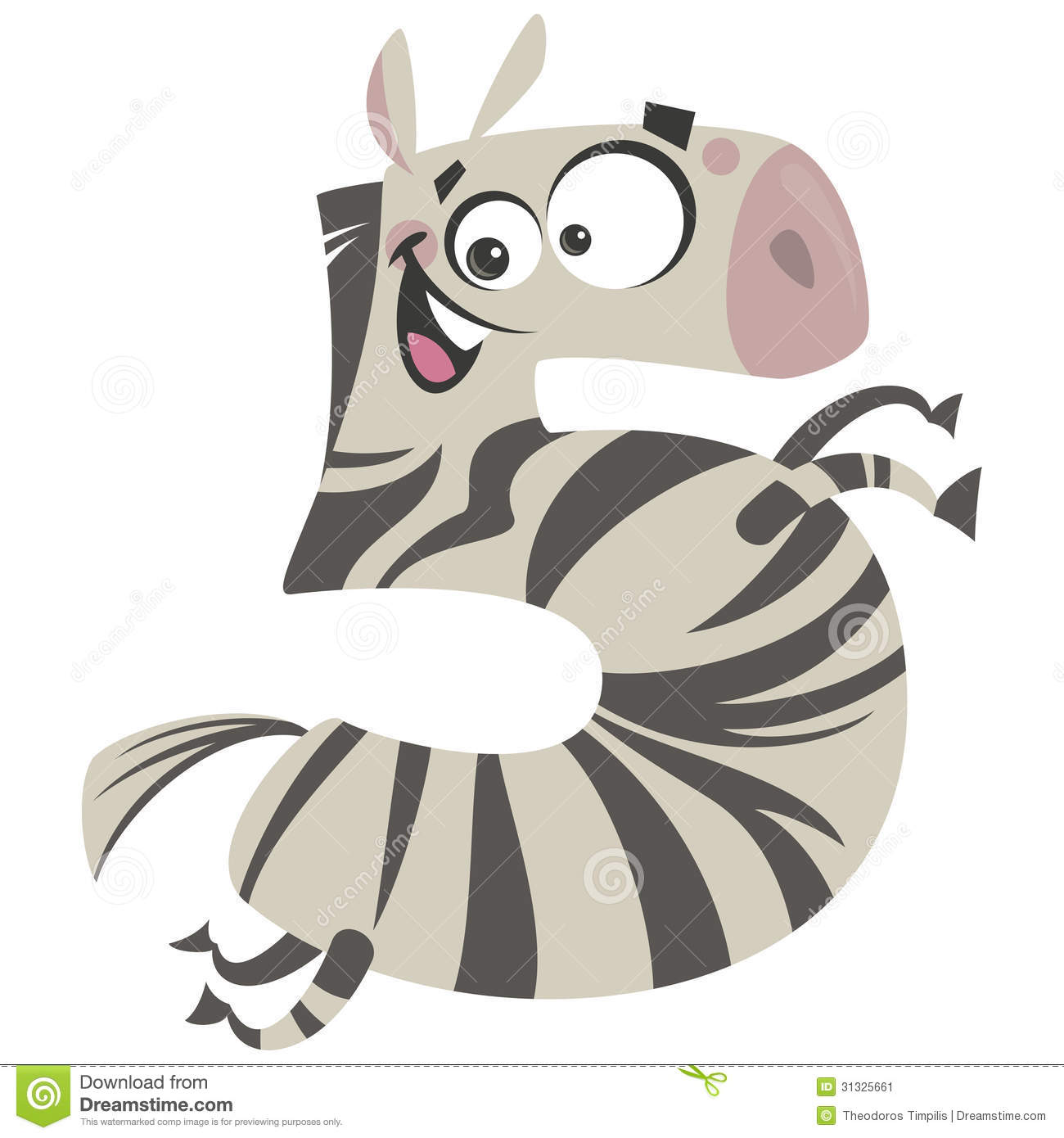 Zebra clipart number 1 #1 Zebra Clipart 5 Zebra