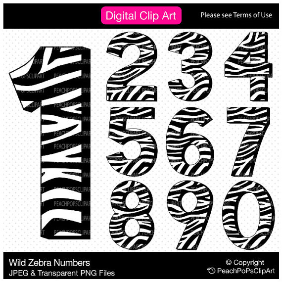 Zebra clipart number 1 Art Digital (84+) Clipart zebra