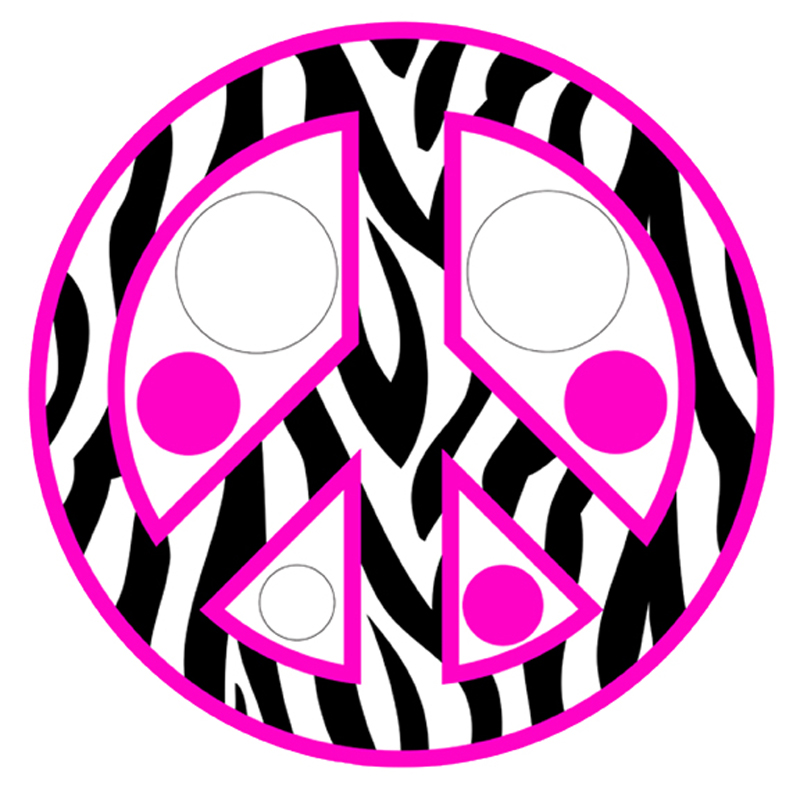 Zebra clipart peace sign Art Dots Clip Pink Stripe