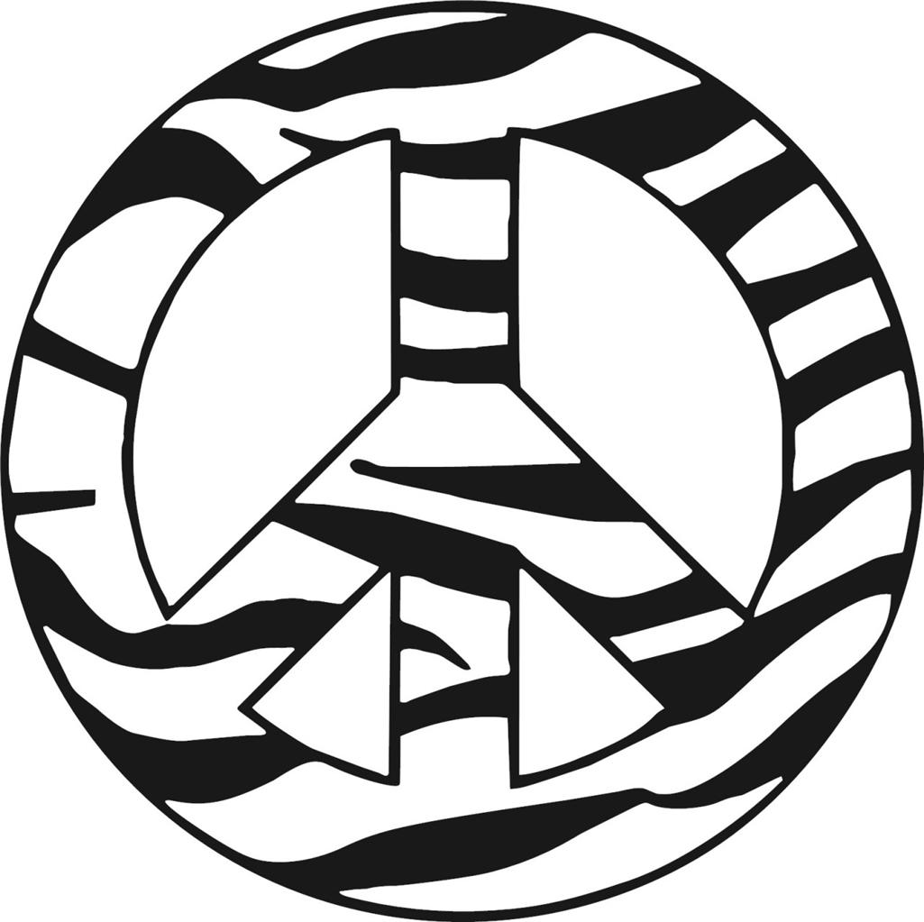 Zebra clipart peace sign Peace pages peace coloring sign