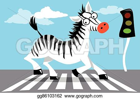Zebra clipart road Gg86103162 Clipart GoGraph safety Road