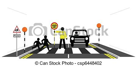Zebra clipart road Illustration zebra walking  patrolman