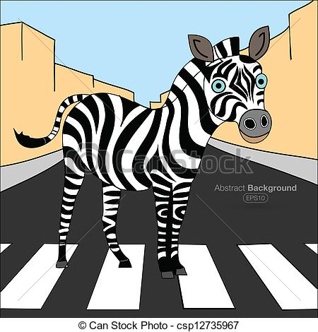 Zebra clipart road Crossing Clip  Vector crossing