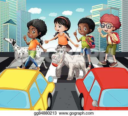 Zebra clipart road Crossing the GoGraph Royalty at