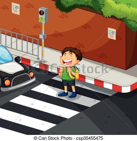 Zebra clipart road  of at crossing Vectors