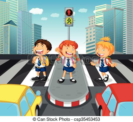 Zebra clipart road  of on crossing Clipart