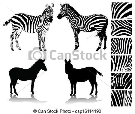 Zebra clipart shadow Of Vector white Vectors zebra