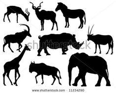 Zebra clipart shadow Elephant African rhinoceros (Herbivores für