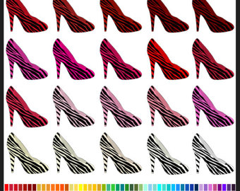 Zebra clipart shoe Use shoes Colors High Commercial