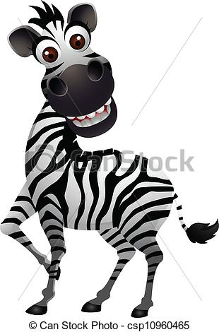 Zebra clipart silly Cartoon Clip  of funny