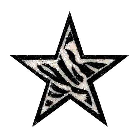 Zebra clipart star For or Cheer Star Glitter