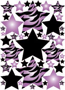 Zebra clipart star Images on zebra Wall purple