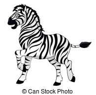 Zebra clipart two  of zebras Illustration of