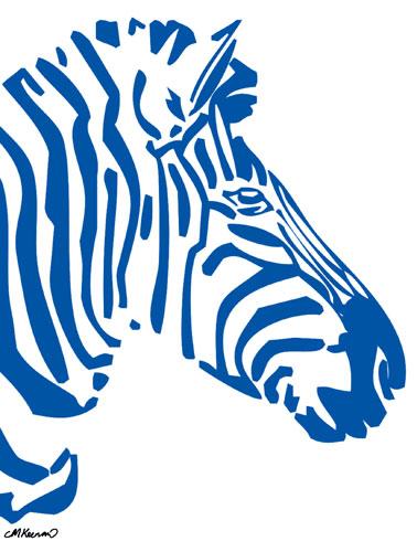 Zebra clipart two  Resolution Blue Zebra 378x500
