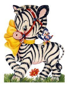 Zebra clipart vintage Art Here wait for Zebra
