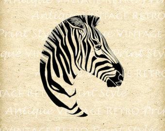 Zebra clipart vintage Etsy Clip Print Zebra Printable