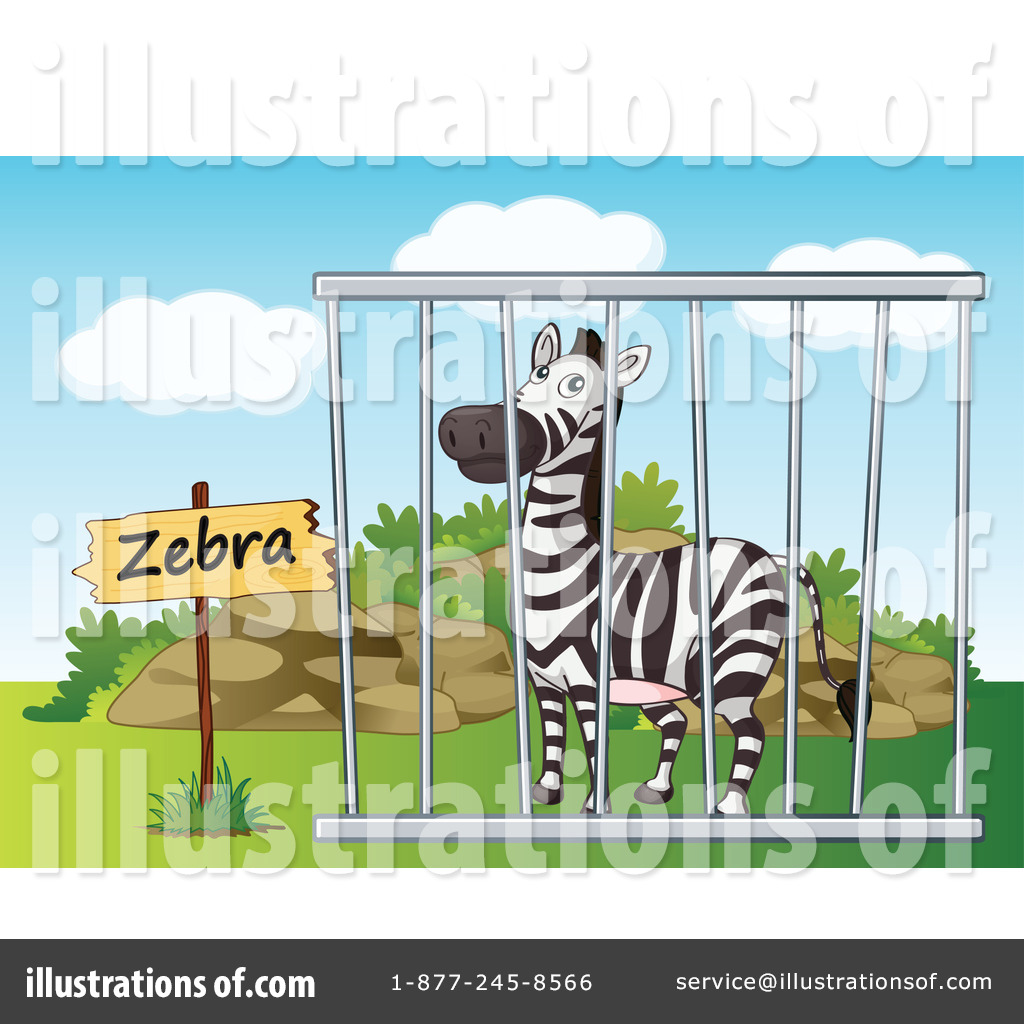Cage clipart zebra Royalty colematt Illustration by by