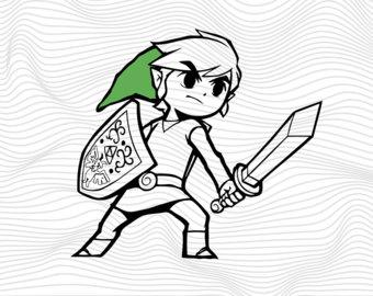 Zelda clipart Legend On Etsy Zelda Zelda