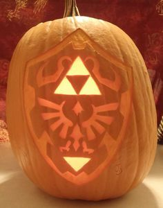 Zelda clipart pumpkin stencil Zelda Shield pumpkin From carving