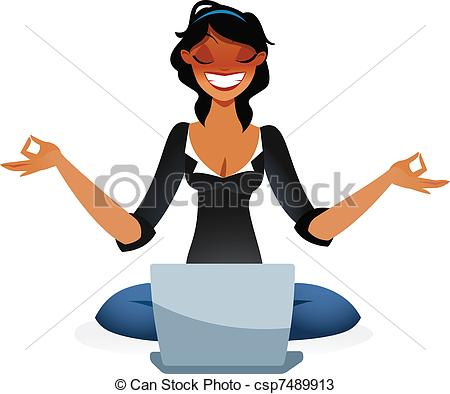 Zen clipart acceptance Of front position lotus in