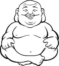 Zen clipart happy buddha Coloring Laughing face buddha Coloring