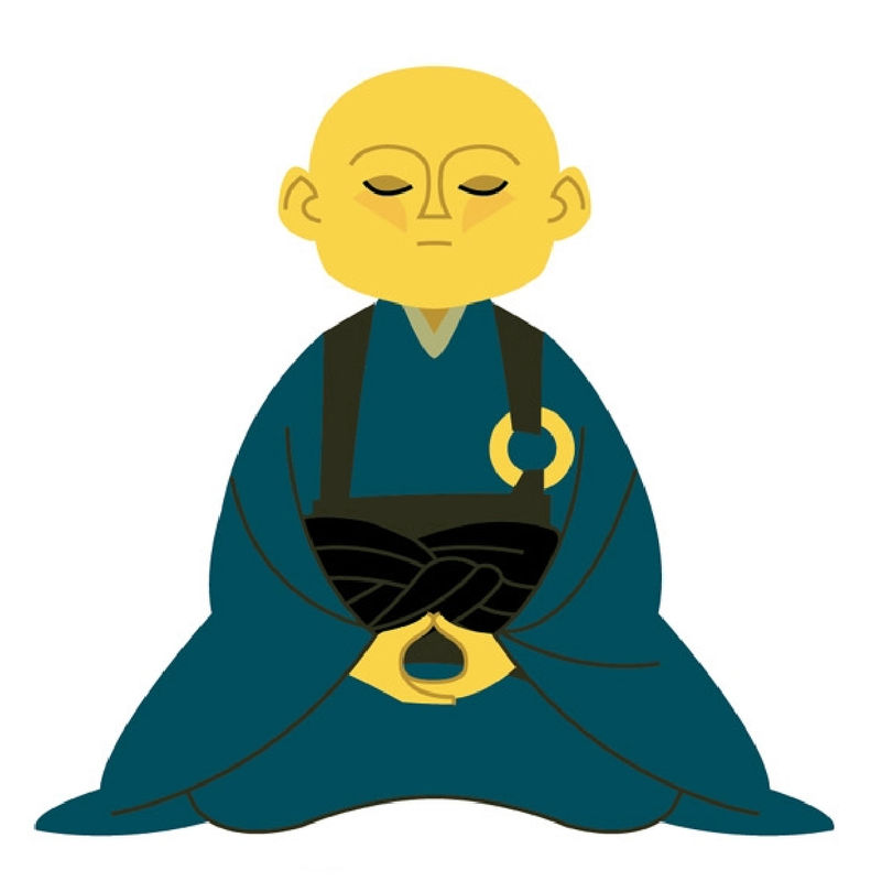 Zen clipart sage  LITTLE MONK ZEN MUHATSU