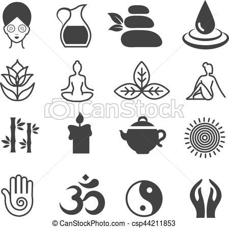 Zen clipart yoga Spa Vector Yoga symbols health