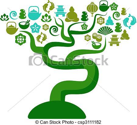Zen clipart yoga Tree Vector Green and tree