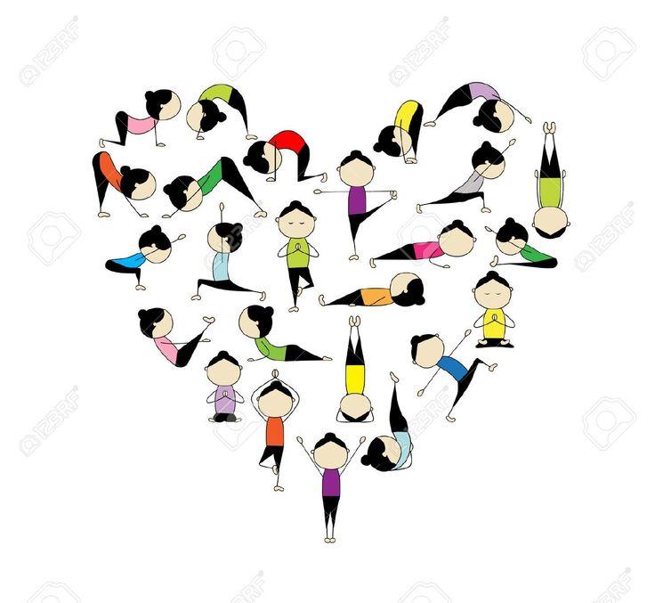 Zen clipart yoga poses #1