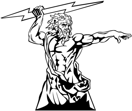 Zeus clipart Page Art  on God