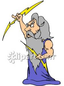 Zeus clipart angry With Royalty Bolts With Zeus