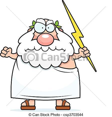 Zeus clipart angry Greek cartoon A Greek