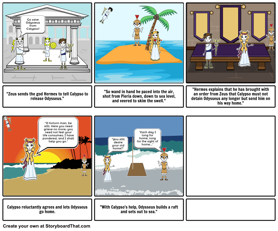 Zeus clipart odysseus Storyboard This Storyboard by Storyboard