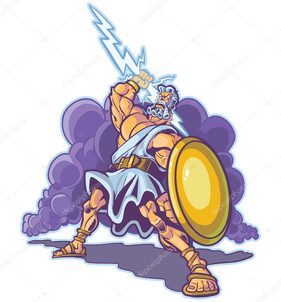 Zeus clipart titan An Vector shield holding or