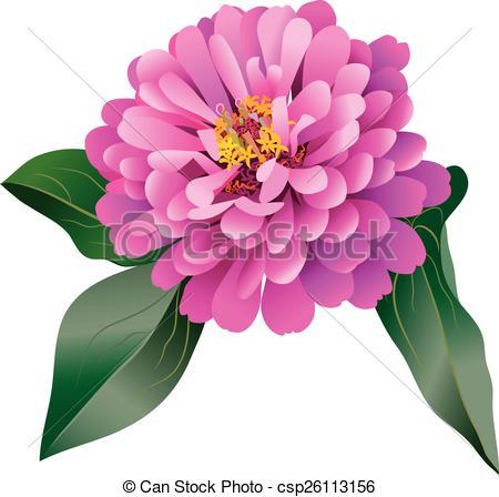 Zinnea clipart Art 251 Zinnia flower Clip