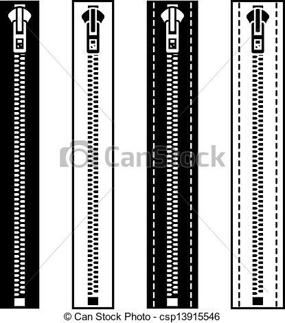 Zipper clipart closed  vector vector white symbols