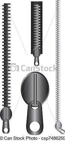 Zipper clipart drawn  vector zip vector zip