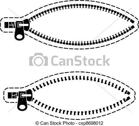 Zipper clipart logo Black vector zipper of symbols