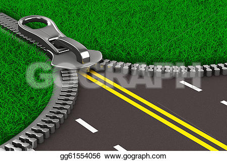 Zipper clipart road Road Illustration 3d Stock Illustration