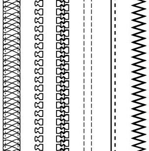 Zipper clipart stitching Brushes: Free vector) vector &