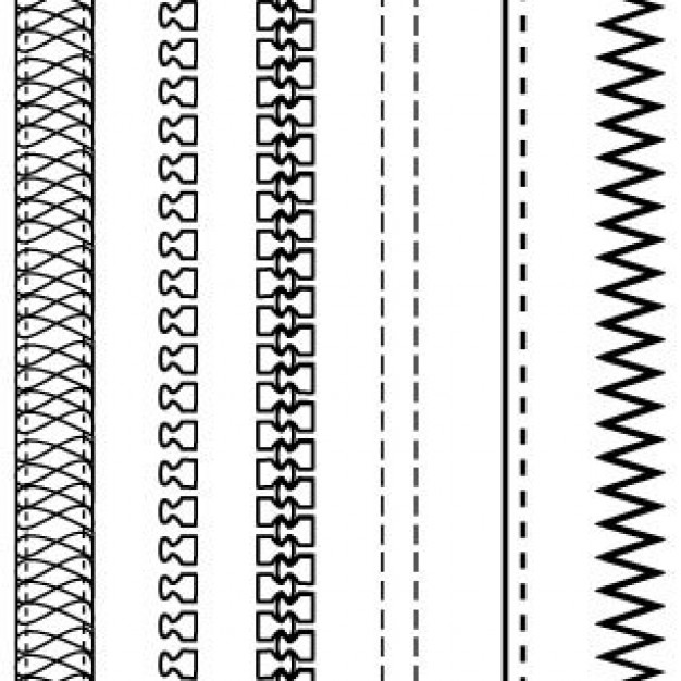 Zipper clipart stitching Brushes: Free STOCK Brushes: &