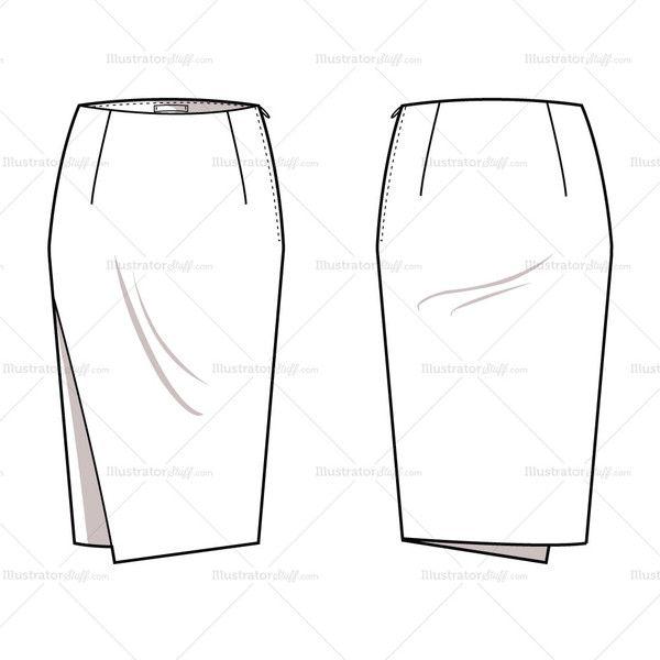 Zipper clipart technical drawing Skirt images on Flat Flats